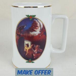 Other - 🎅 Coca Cola Christmas Coffee Mug Cup Stein Santa